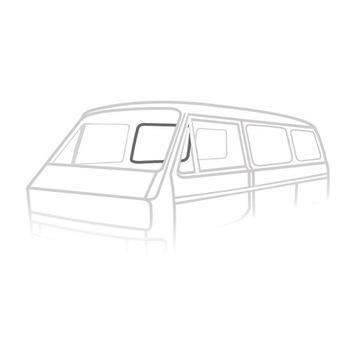 УПЛОТНИТЕЛЬ СТЕКЛА ДВЕРЬ СДВИЖНЫХ KLIN VW T3 84-92