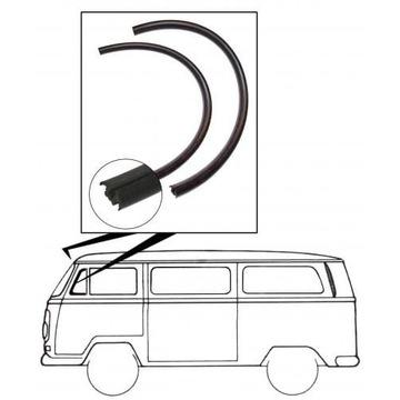 УПЛОТНИТЕЛЬ СТЕКЛА TRÓJKĄTNEJ STAŁEJ 2 ШТУКИ VW BUS T2