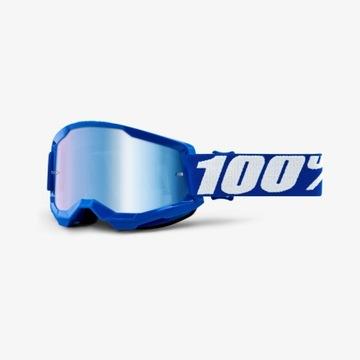 Gogle 100% Strata 2 Blue niebieskie lustro