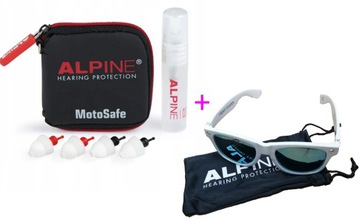 Zatyczki ALPINE MotoSafe Pro + OKULARY ALPINE