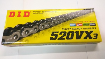 DID VX3 łańcuch enduro super mocny x-ring 520-118
