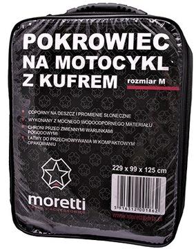 ЧЕХОЛ MOTOCYKLOWY Z KUFREM MORETTI SKUTER RO-M
