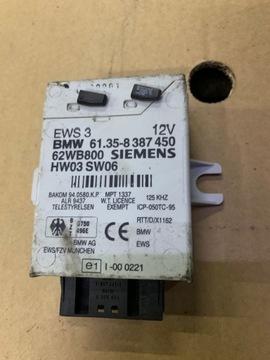 МОДУЛЬ КОНТРОЛЛЕР EWS 3 8387450 + 2 PASTYLKI BMW