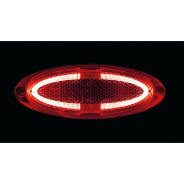 LAMPKA ГАБАРИТНАЯ 4XLED 12V 24V 9MM HOMOL E R7 RED