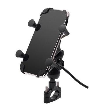МОТОЦИКЛ ДЕРЖАТЕЛЬ НА ТЕЛЕФОН GPS USB 2A 3,5-6,5