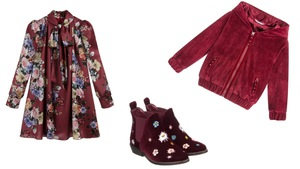 de02b07ce9 Burgund - kolor nie tylko dla dorosłych. Jak nosić  Propozycje dla  dziewczynki.