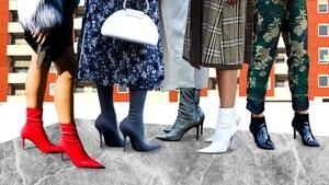 5bbadc49c1a9d6 Skarpetkowe szpilki - ekstrawaganckie buty na SS19