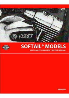 Harley Davidson Softail Książka Serwisowa