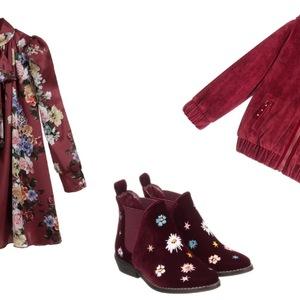 068f2e69fc Burgund - kolor nie tylko dla dorosłych. Jak nosić  Propozycje dla  dziewczynki.