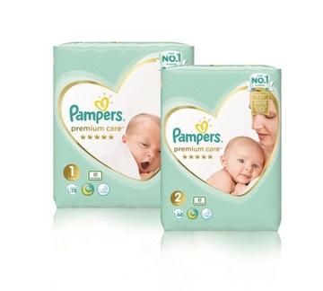 Pampers Premium Care 1 novorodenec + 2 mini 146 ks