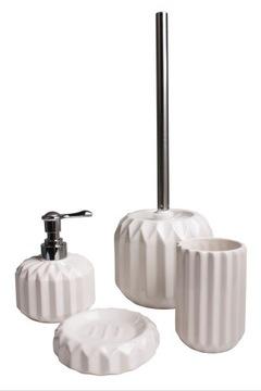 Kúpeľňová sada WC kefa biela Ceram Harmony