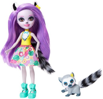 Bábika Enchantimals Larisa + lemur GFN44
