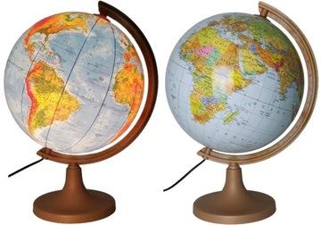 Globus 320 mm OSVETLENÝ 2v1 + ČASOVÉ ZÓNY +