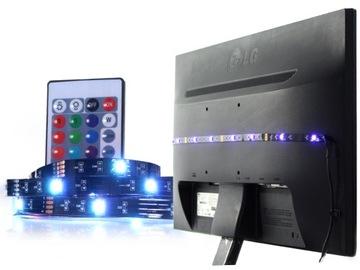 RGB USB LED páska s 3M diaľkovým ovládaním 5V TV Podsvietenie