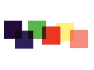 Sada farebných filmových filtrov 25cm 6 ks.
