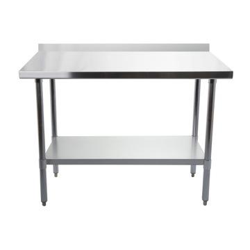 Gastronomický pracovný stôl. Nerezová oceľ 90 cm
