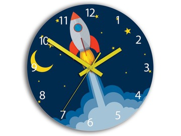 WALL CLOCK ULTRA SILENT ROCKET