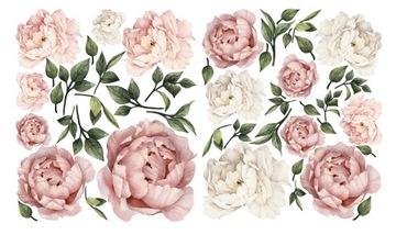 Samolepky na stenu kvety pivoniek 70x120 cm