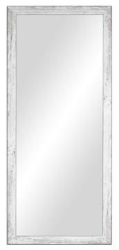 Zrkadlo 137x57cm Shabby Chic, Biela, Šedá, hnedá, Čierna