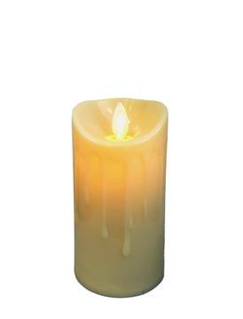 LED sviečka 11 cm. Dekorácia s pohyblivým plameňom