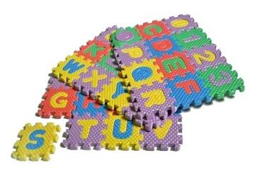 Penové puzzle 36ks penových podložiek podľa abecedy