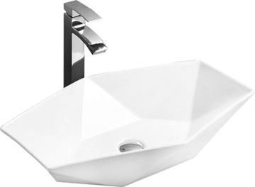 VEGAS Biele keramické umývadlo na dosku - REA