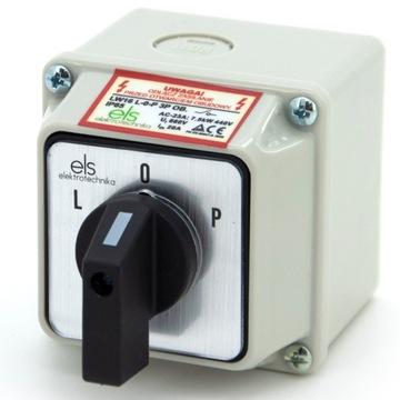 CAM CONNECTOR 16A Vľavo doprava v puzdre IP65