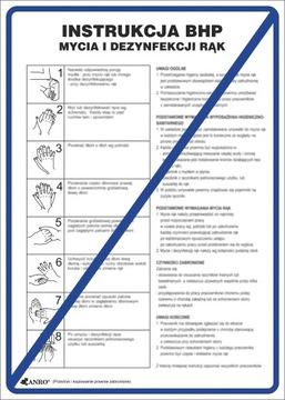 Bezpečnostná značka BHP Manuálna umývacia ručná dezinfekcia