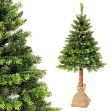 Vianočný stromček borovica na stonke pe ako skutočný 180cm