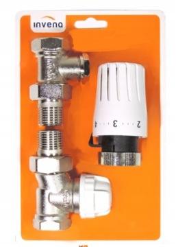 Jednoduchá termostatická súprava 1/2 hlavou + ventily pl
