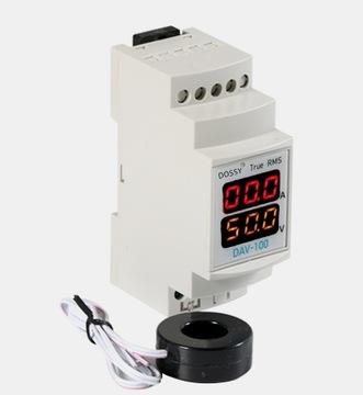 Voltmeter Meter Ampermeter 200A DIN lištu
