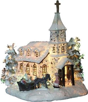 Švédska vianočná dekorácia s LED podsvietením