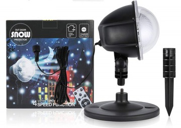 Vianočný LED projektor na domáce snehové vločky