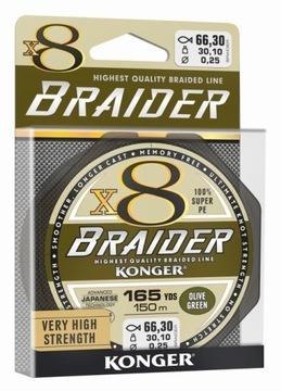 BRADED BRAIDER X8 ZELENÝ 0,10 mm / 150m