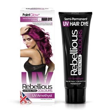 UV náter pre vlasový toner paintglow ametyst fialová