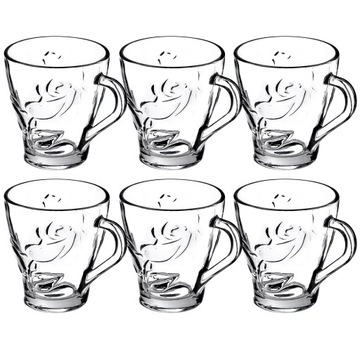 Čajové šálky 250ml Set 6ks vzor