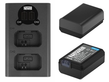 2 NEWELL NP-FW50 Batérie pre Sony A7 II + Nabíjačka