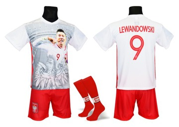 Lewandowski futbalový kostým + getts foto veľkosť 134