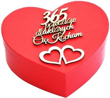 365 dôvodov MILUJEM ŤA Skvelý darček na Valentína