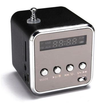 Prenosná rádiová batéria FM s LED reproduktorom