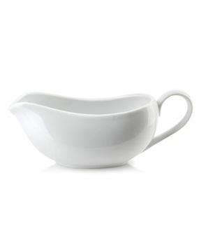 Biely porcelánový omáčkový čln 400 ml omáčka W-wa