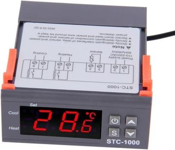 Regulátor teploty termostatu 230V Regulátor