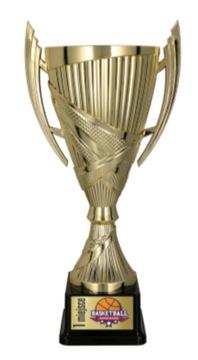 GOLD TROPHY CUP 19,5CM + gravírovanie ZDARMA