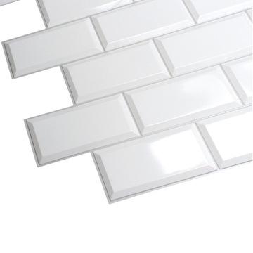 Nástenné panely OBKLADY Biele 3D PVC ŠEDÝ ŠVÁR