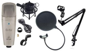 Behringer C1U USB Kondenzátorový mikrofón Full Set