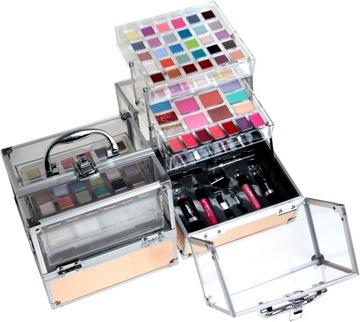 Pohár na kozmetiku make-up. Shadow palety. Nastaviť!