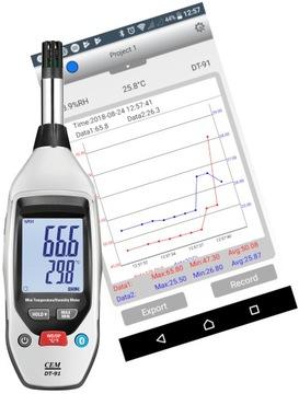 Bluetooth záznamník teploty a vlhkosti