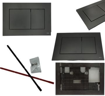 Ovládacie tlačidlo TECEnow BLACK MAT pre WC TECE