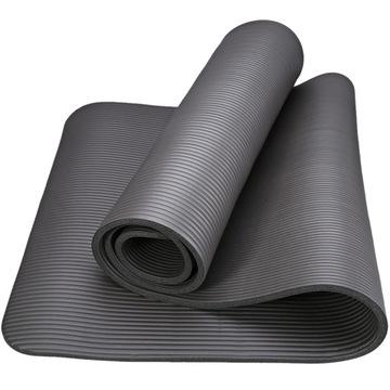 Čierna jóga zahusťovacia rohože hrúbka 1,5 cm + taška