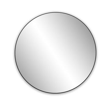 Zrkadlové okrúhle kovové steny Fi 60cm čierna